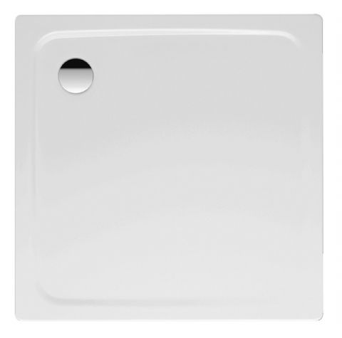 Kaldewei Superplan 1000 x 1000mm Square Steel Shower Tray in Alpine White